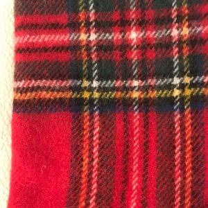 Accessories - Plaid Wool Winter Scarf from Scotland